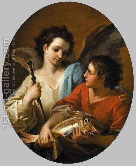 Tobias and the Angel c. 1740 by Corrado Giaquinto - Reproduction Oil Painting