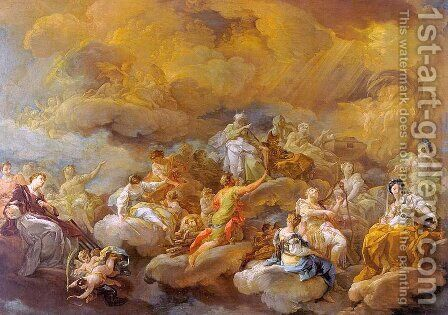 Saints in Glory 1755 by Corrado Giaquinto - Reproduction Oil Painting