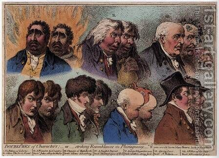 Dublures of Characters 1798 by James Gillray - Reproduction Oil Painting