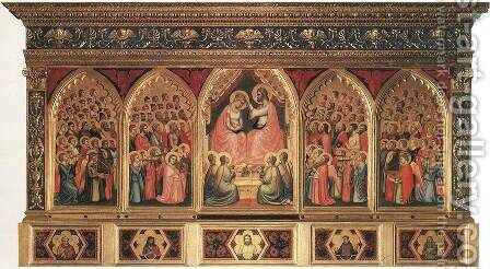 Baroncelli Polyptych c. 1334 by Giotto Di Bondone - Reproduction Oil Painting