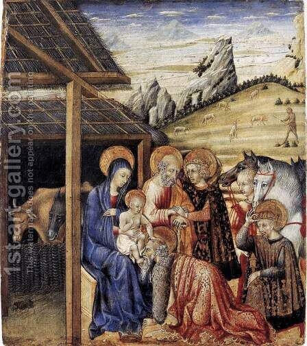 The Adoration of the Magi c. 1462 by Giovanni di Paolo - Reproduction Oil Painting