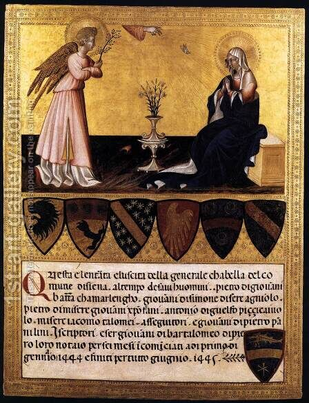 The Annunciation by Giovanni di Paolo - Reproduction Oil Painting