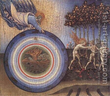 The Creation and the Expulsion from the Paradise c. 1445 by Giovanni di Paolo - Reproduction Oil Painting