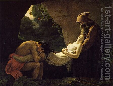 The Entombment of Atala 1808 by Anne-Louis Girodet de Roucy-Triosson - Reproduction Oil Painting