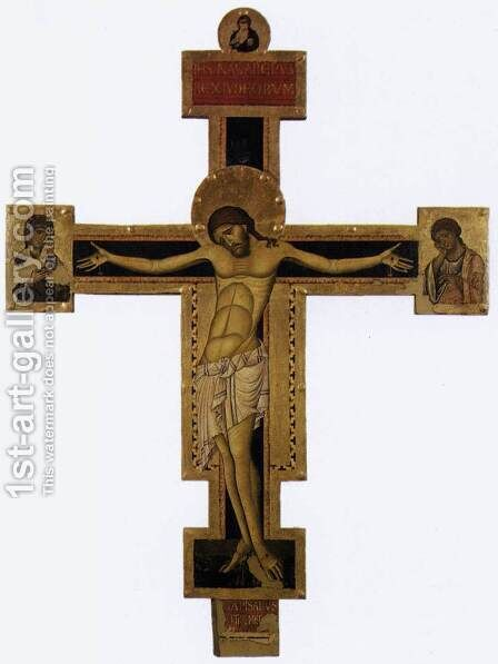 Crucifix (2) 1240s by Giunta Pisano - Reproduction Oil Painting