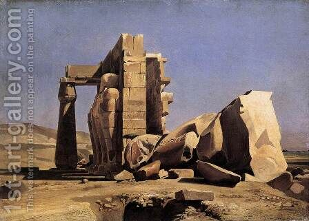 Egyptian Temple 1840 by Charles-Gabriel Gleyre - Reproduction Oil Painting