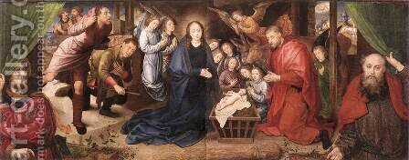 Adoration of the Shepherds c. 1480 by Hugo Van Der Goes - Reproduction Oil Painting
