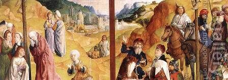 Calvary Triptych (detail 3) 1465-68 by Hugo Van Der Goes - Reproduction Oil Painting