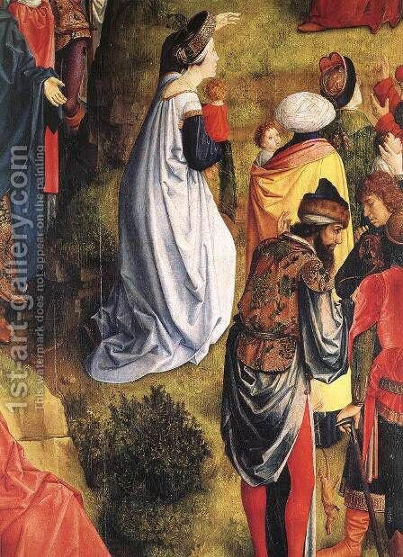 Calvary Triptych (detail 5) by Hugo Van Der Goes - Reproduction Oil Painting