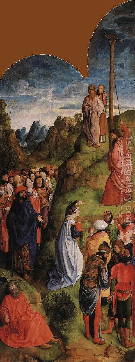 Calvary Triptych (right wing) 1465-68 by Hugo Van Der Goes - Reproduction Oil Painting