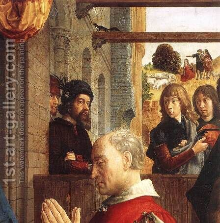 Monforte Altarpiece (detail 1) c. 1470 by Hugo Van Der Goes - Reproduction Oil Painting