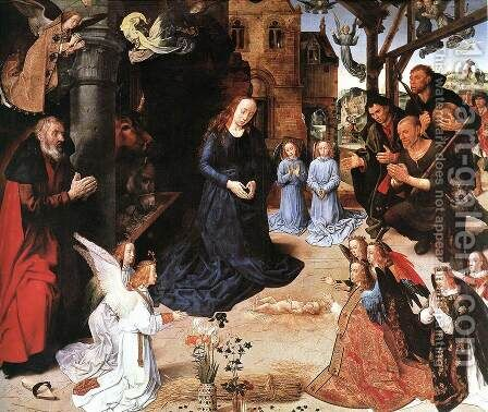 The Adoration of the Shepherds 1476-79 by Hugo Van Der Goes - Reproduction Oil Painting