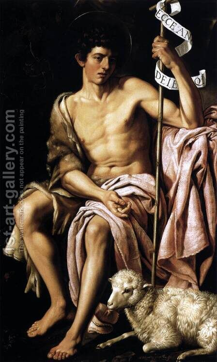 St John the Baptist 1621 by Bartolome Gonzalez Y Serrano - Reproduction Oil Painting