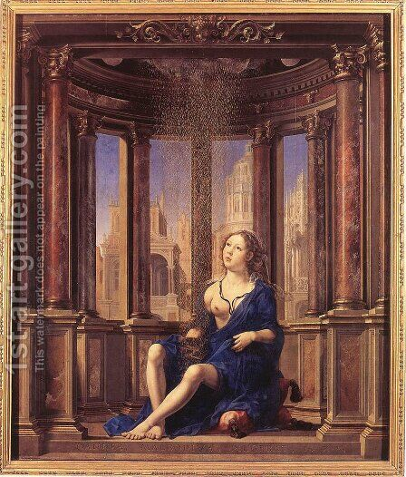 Danae 1527 by Jan (Mabuse) Gossaert - Reproduction Oil Painting