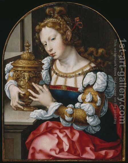 Lady Portrayed as Mary Magdalene by Jan (Mabuse) Gossaert - Reproduction Oil Painting