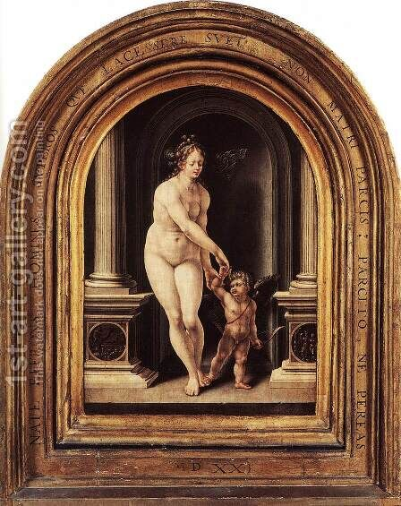 Venus and Cupid 1521 by Jan (Mabuse) Gossaert - Reproduction Oil Painting