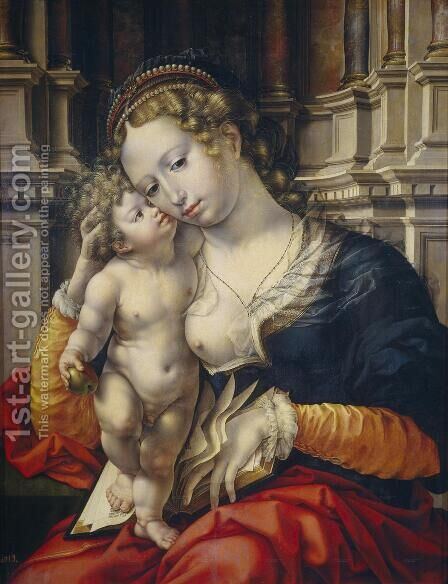 Virgin and Child c. 1527 by Jan (Mabuse) Gossaert - Reproduction Oil Painting