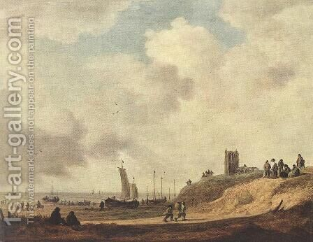Seashore at Scheveningen 1645 by Jan van Goyen - Reproduction Oil Painting