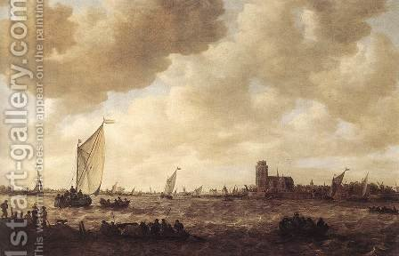 View of Dordrecht 1644-53 by Jan van Goyen - Reproduction Oil Painting