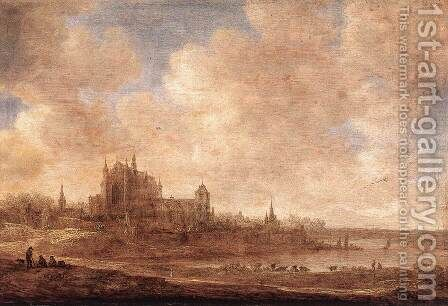 View of Leiden 1643 by Jan van Goyen - Reproduction Oil Painting