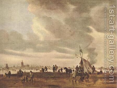 View of The Hague in Winter 1645 by Jan van Goyen - Reproduction Oil Painting