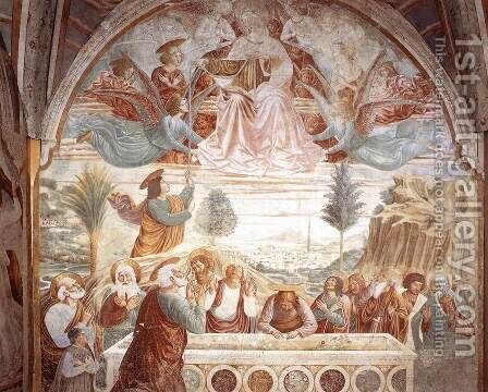 Assumption of the Virgin 1484 by Benozzo di Lese di Sandro Gozzoli - Reproduction Oil Painting