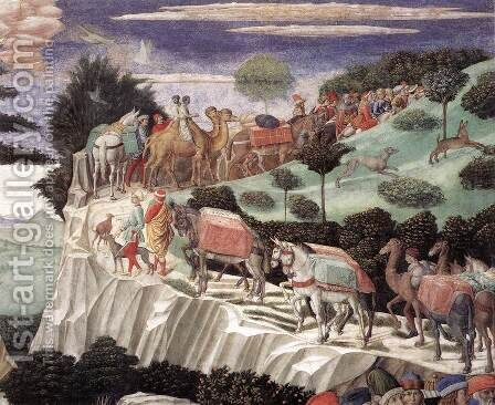 Procession of the Oldest King (detail 8) 1459-60 by Benozzo di Lese di Sandro Gozzoli - Reproduction Oil Painting