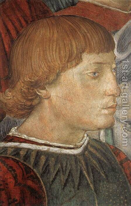 Procession of the Youngest King (detail 6) 1459-60 by Benozzo di Lese di Sandro Gozzoli - Reproduction Oil Painting