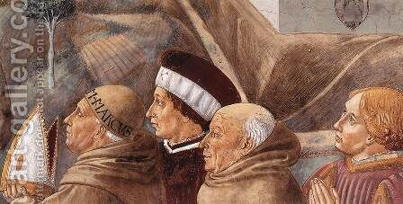 Scenes from the Life of St Francis (detail of scene 7, south wall) 1452 by Benozzo di Lese di Sandro Gozzoli - Reproduction Oil Painting