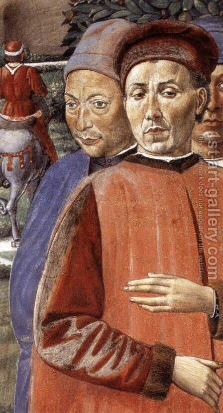 St Augustine Departing for Milan (detail 3) 1464-65 by Benozzo di Lese di Sandro Gozzoli - Reproduction Oil Painting