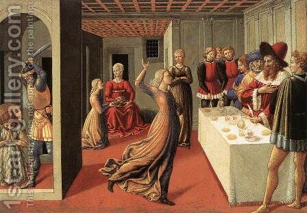The Dance of Salome 1461-62 by Benozzo di Lese di Sandro Gozzoli - Reproduction Oil Painting