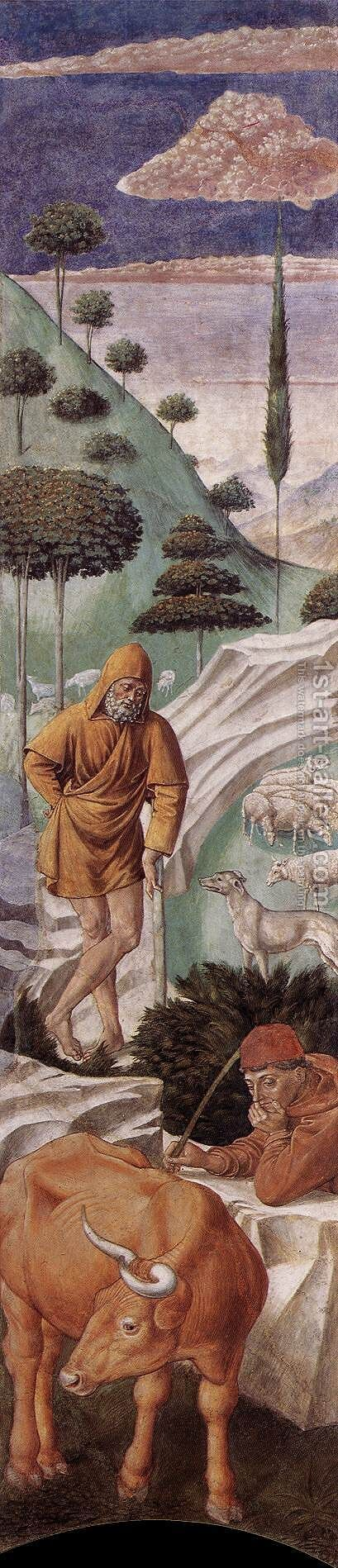 The Vigil of the Shepherds (left wall of the apse) 1459-60 by Benozzo di Lese di Sandro Gozzoli - Reproduction Oil Painting