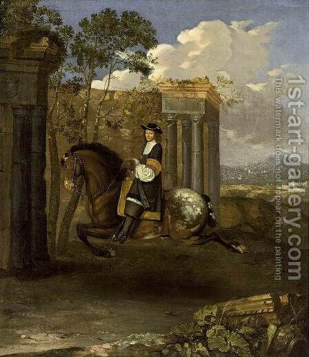 Equestrian Portrait of a Gentleman by Barent Graat - Reproduction Oil Painting