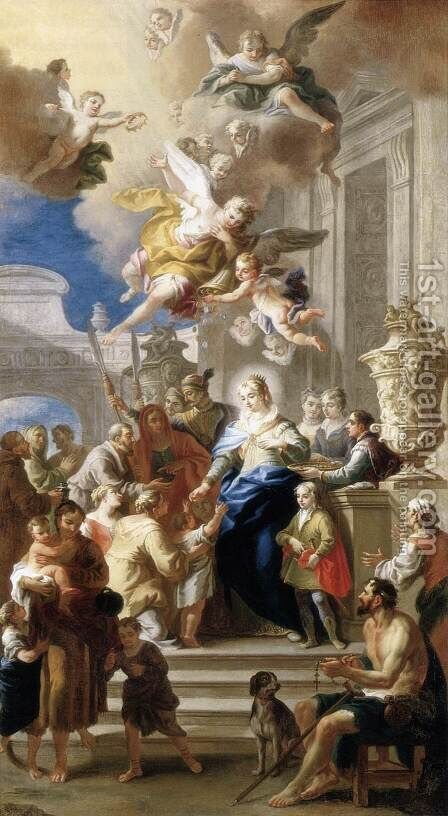 St Elizabeth Distributing Alms 1736 by Daniel Gran - Reproduction Oil Painting