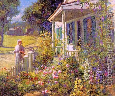 Summer Garden by Abbott Fuller Graves - Reproduction Oil Painting