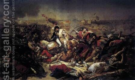 The Battle of Abukir 1806 by Antoine-Jean Gros - Reproduction Oil Painting