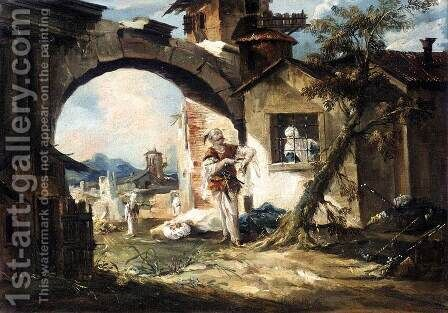 The Amorous Turk 1742-43 by Giovanni Antonio Guardi - Reproduction Oil Painting