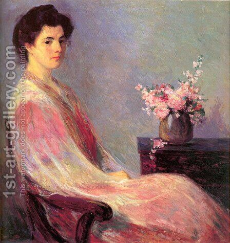 Lady in Pink by Bernhard Gutmann - Reproduction Oil Painting
