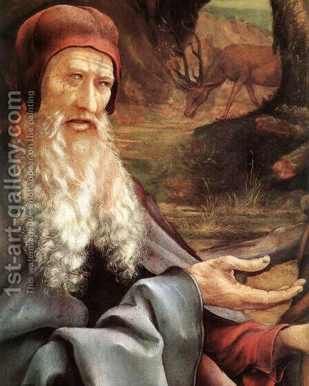 St Anthony (detail) c. 1515 by Matthias Grunewald (Mathis Gothardt) - Reproduction Oil Painting