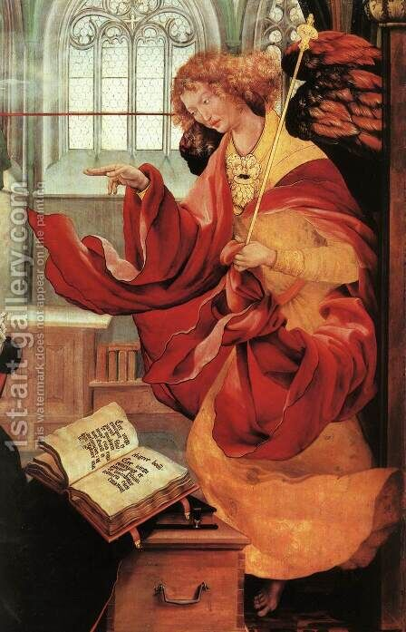 The Annunciation (detail 2) c. 1515 by Matthias Grunewald (Mathis Gothardt) - Reproduction Oil Painting