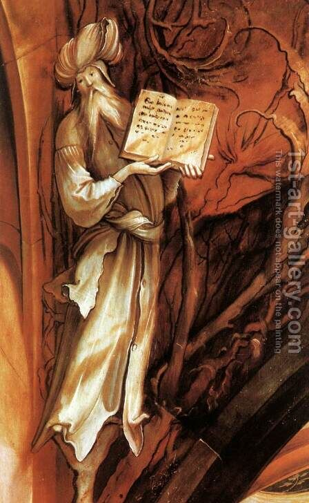The Annunciation (detail 3) c. 1515 by Matthias Grunewald (Mathis Gothardt) - Reproduction Oil Painting
