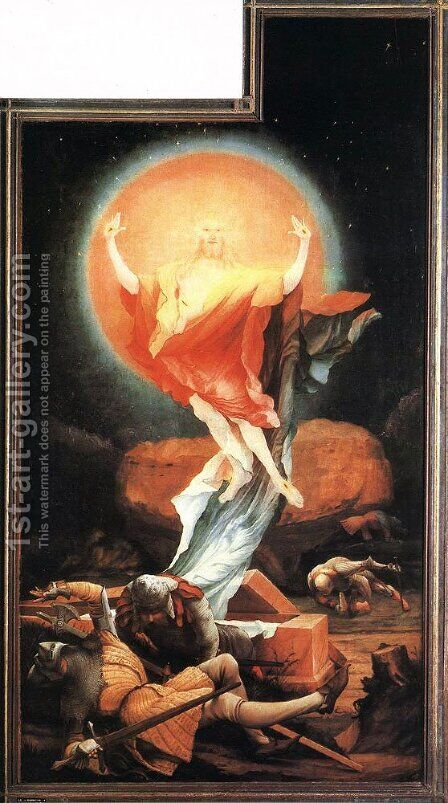 The Resurrection of Christ (The Isenheimer Altarpiece) 1510-15 by Matthias Grunewald (Mathis Gothardt) - Reproduction Oil Painting