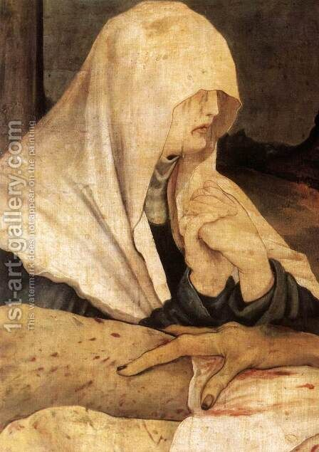 The Lamentation (detail 2) c. 1515 by Matthias Grunewald (Mathis Gothardt) - Reproduction Oil Painting