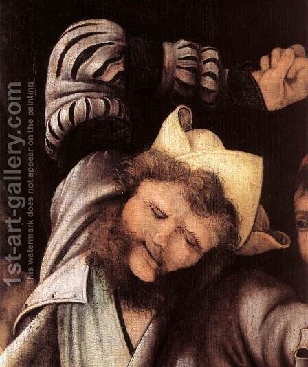 The Mocking of Christ (detail 1) 1503 by Matthias Grunewald (Mathis Gothardt) - Reproduction Oil Painting
