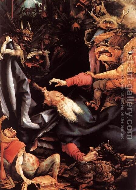 The Temptation of St Antony (detail 1) c. 1515 by Matthias Grunewald (Mathis Gothardt) - Reproduction Oil Painting