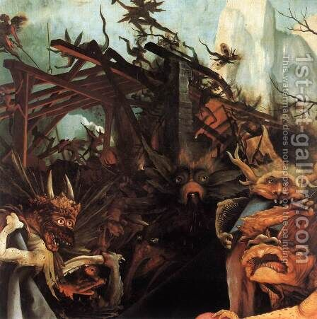 The Temptation of St Antony (detail 2) c. 1515 by Matthias Grunewald (Mathis Gothardt) - Reproduction Oil Painting