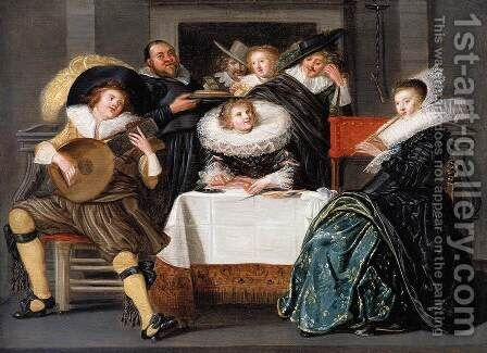 A Merry Company Making Music 1623 by Dirck Hals - Reproduction Oil Painting