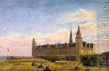 Kronborg Castle 1834 by Constantin Hansen - Reproduction Oil Painting
