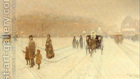 A City Fairyland 1886 by Childe Hassam - Reproduction Oil Painting