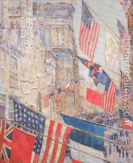 Allies Day, May 1917 by Childe Hassam - Reproduction Oil Painting